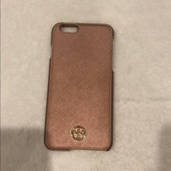 hot sale online 36a5c be182 Tory Burch Rose Gold IPhone 6 Case